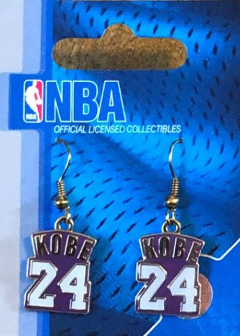 Los Angeles Lakers Kobe Bryant NBA Jersey Earrings