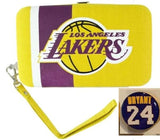 Los Angeles Lakers 2 Items Bundle Kobe Bryant #24 Small Magnet & Wristlet Wallet