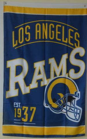 Los Angeles Rams Est. 1937 NFL 3x5 Flag