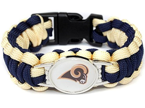 Los Angeles Rams NFL Paracord Bracelet