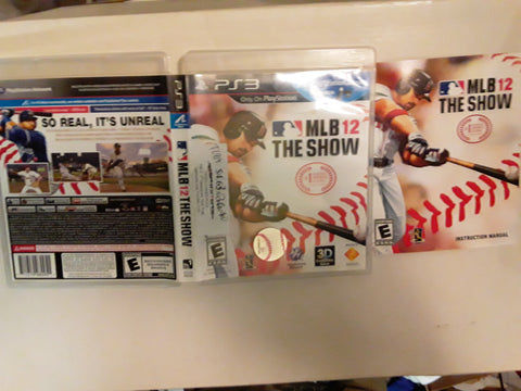 MLB 12 the Show 2012 Baseball Used PS3 Video Game