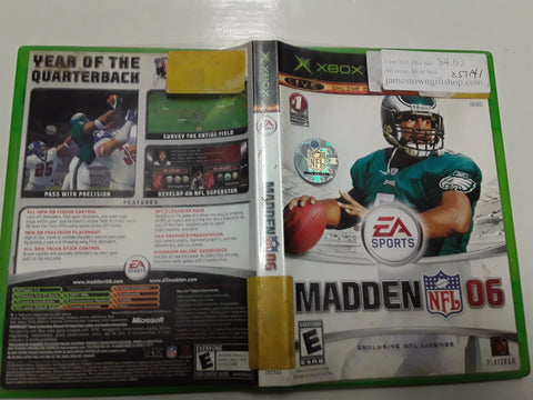 Madden NFL 06 Football Used Original Xbox Video Game