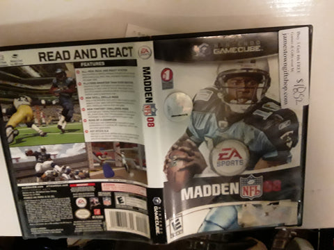 Madden NFL 08 Football 2008 Used Nintendo Gamecube Video Game