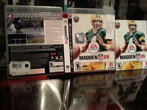 Madden NFL 09 Football 2009 Used PS3 Video Game