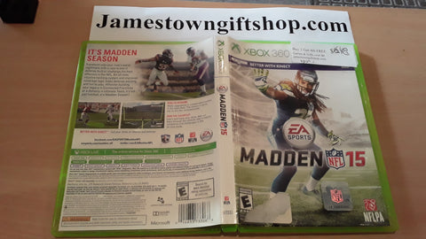 Madden NFL 15 Football 2015 Used Xbox 360 Video Game