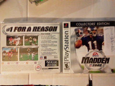 Madden NFL 2002 Football Used Playstation 1 Game
