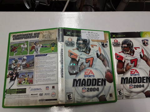 Madden NFL 2004 Football Used Original Xbox Video Game