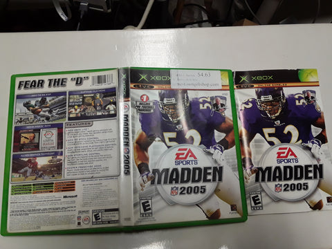 Madden NFL 2005 Football Used Original Xbox Video Game