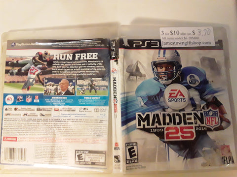 Madden NFL 25 Football 2014 Used PS3 Video Game