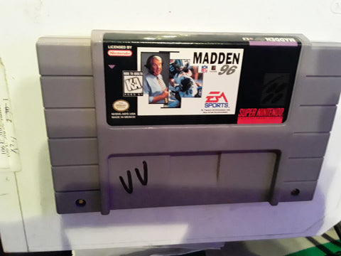Madden NFL 96 SNES Super Nintendo Video Game Cartridge
