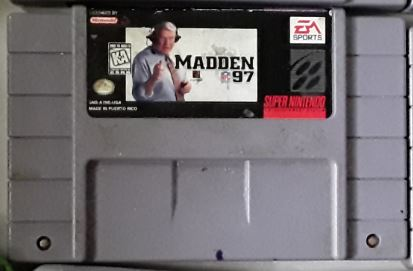Madden NFL 97 Used SNES Video Game