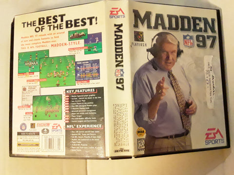 Madden NFL 97 Used Sega Genesis Video Game