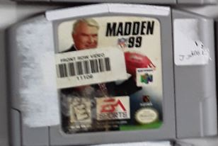 Madden 99 NFL Football Used N64 Video Game