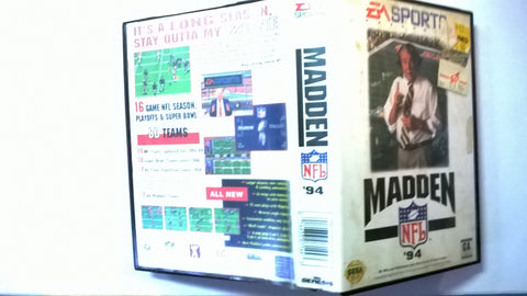 Madden NFL Football 94 Sega Genesis with Box and Manual USED
