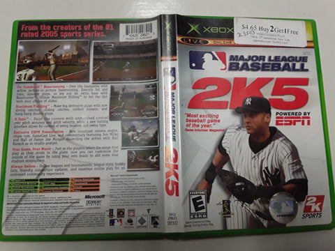 Major League Baseball 2K5 Used Original Xbox Video Game