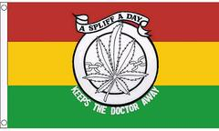 Marijuana A Spliff A Day Keeps The Doctor Away 3x5 Feet Flag