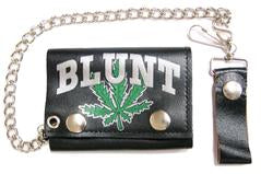 Marijuana Blunt Chain Leather Wallet