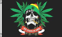 Marijuana Irie State of Mind 3x5 Feet Flag