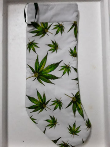 Marijuana Pot Leaf Handmade 18 inch Christmas Stocking