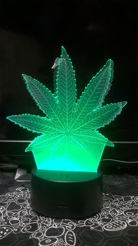 Marijuana Pot Leaf LED Light