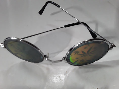 Marijuana Pot Leaf Reflection Glasses