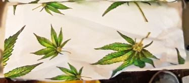 Marijuana Pot Leaves Handmade 8.5 Inch Cotton Face Mask