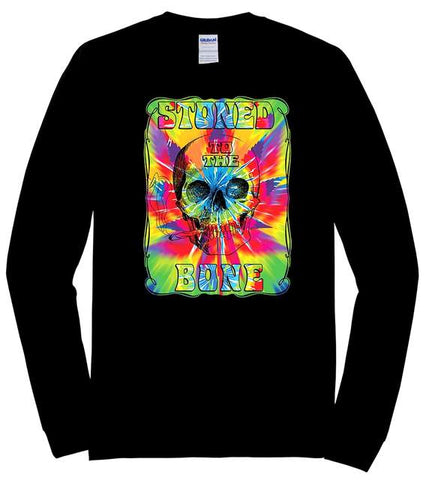 Marijuana Stoned To The Bone Skull Skull Tie Dye Long Sleeve Shirt XX