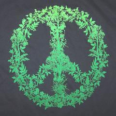 Marijuana Peace Sign Pot leat T-Shirt
