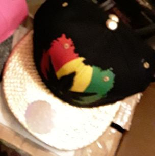 Marijuana Rasta Pot Leaf Baseball Cap Hat in Various Colors