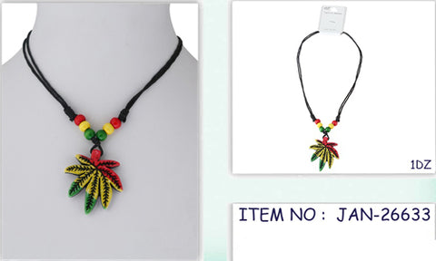 Marijuana Rasta Necklace