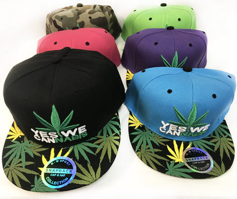 Marijuana Yes We Cannibis Baseball Cap Hat in Various Colors