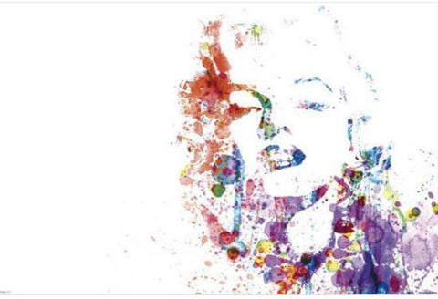 Marilyn Monroe Paint Splatter Pop Art Poster 36x24