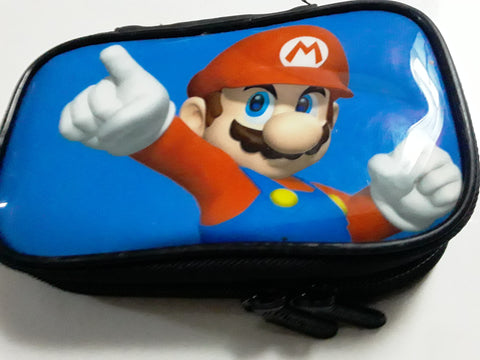 Mario Nintendo 3DS Soft Blue Storage Carrying Case