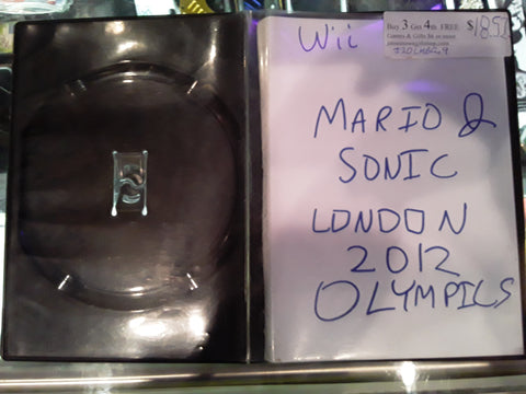 Mario & Sonic London 2012 Olypmics Used Nintendo Wii Video Game