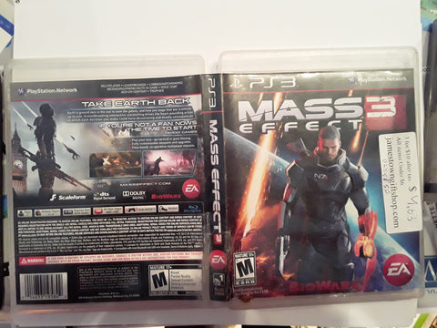 Mass Effect 3 Used PS3 Video Game