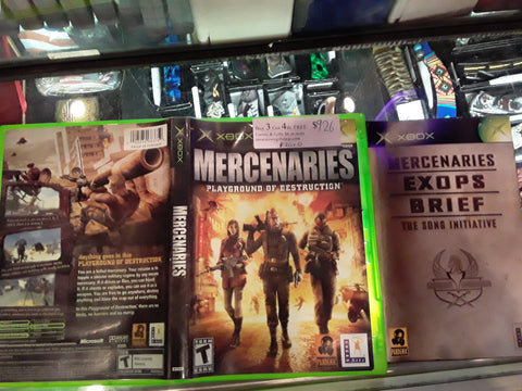 Mercenaries Used Original Xbox Video Game