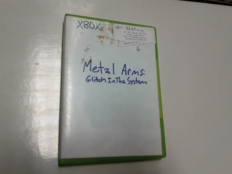 Metal Arms Glitch In the System Used Original Xbox Video Game