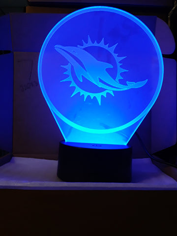 Miami Dolphins Logo NFL LED Light