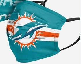 Miami Dolphins NFL Matchday Face Cover Mask Color Logo