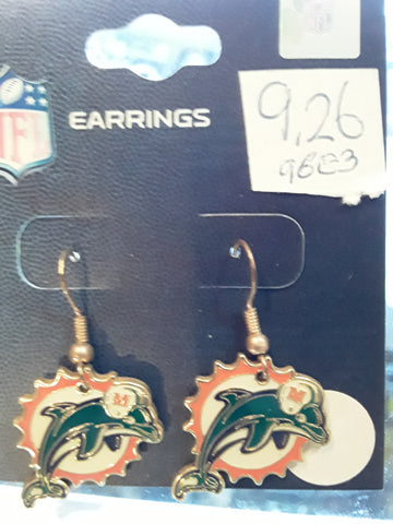 Miami Dolphins Old Logo NFL Wire Earrings