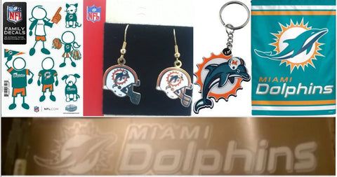 Miami Dolphins NFL 5 ITEMS Fan Bundle ONLINE ONLY