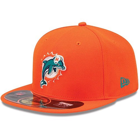 9fd8d692 Miami Dolphins New Era 59Fifty 7 3/4 NFL Baseball Fitted Cap