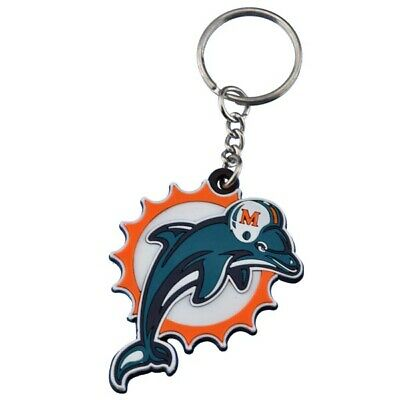Miami Dolphins NFL Vinyl Old Logo Key Chain