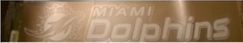 Miami Dolphins 4x17 Die Cut NFL Decal