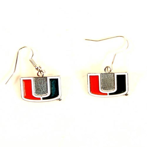 Miami Hurricanes NCAA Dangle Earrings