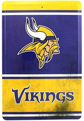 Minnesota Vikings NFL Distressed Look 8x12 Tin Sign