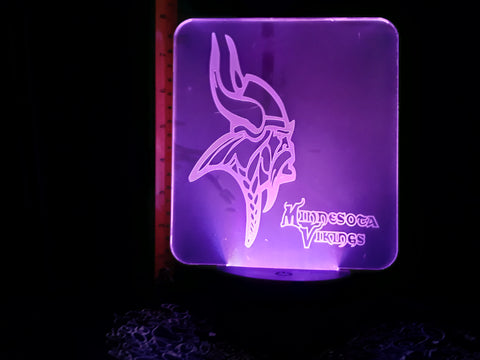 Minnesota Vikings NFL Logo LED Night Light Lamp