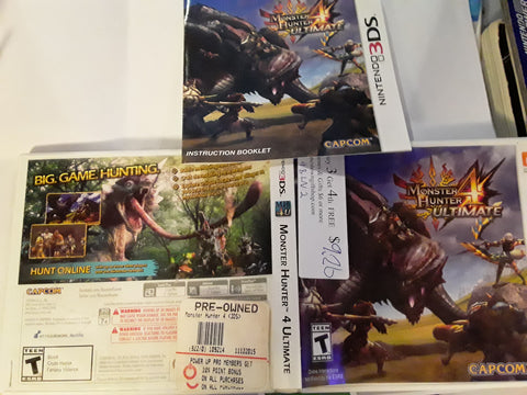 Monster Hunter 4 Ultimate Used Nintendo 3DS Video Game