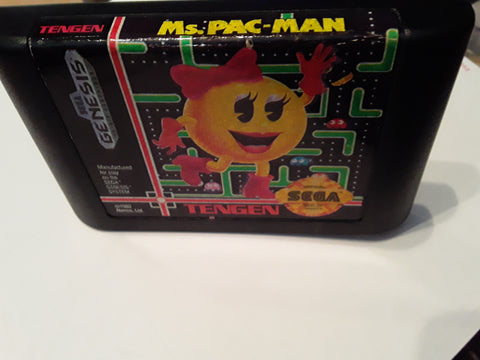 Ms. Pac-Man Used Sega Genesis Video Game