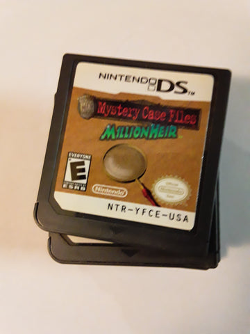 Mystery Case Files Millionheir Used Nintendo DS Video Game Cartridge